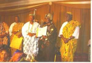 Togbui Bansah (Midle) With Other Distinguished Ewe Chiefs