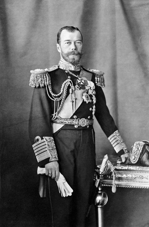 Tsar Nicholas II, in the uniform of a Royal Navy Admiral