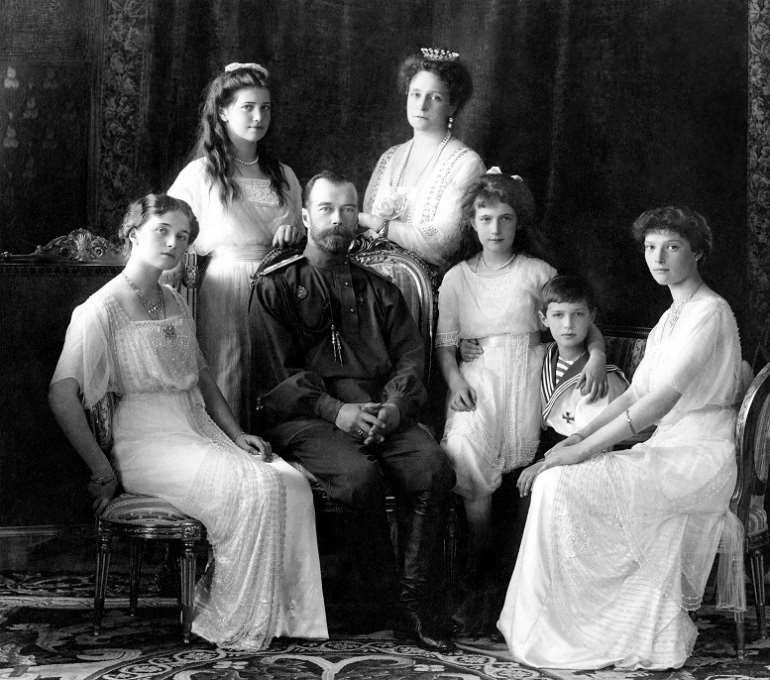 The massacred Tsar Nicholas II family
