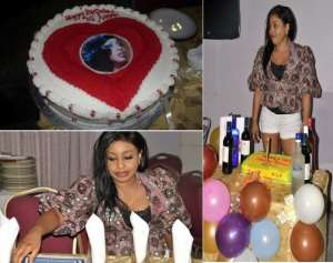 [Birthday Pictures] Ramsey Nouah Celebrates With Rita Dominic On Movie Set