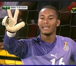 Adam Kwarasey, in action against Brazil