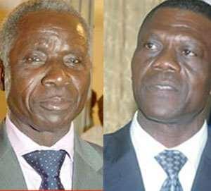 Brigadier-General Nunoo-Mensah and Gbevlo Lartey