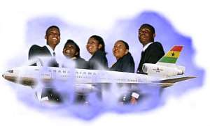 Ghana Airways operates direct flights to the Middle East.