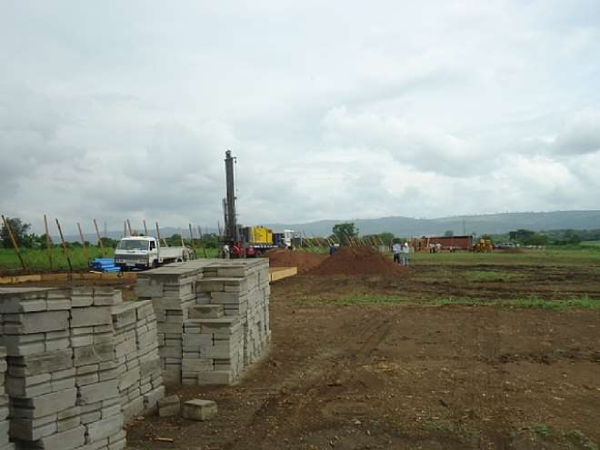 Shots of preparatory works taken from the site