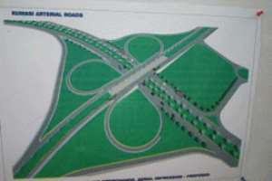 An artist impression of the sofoline interchange in Kumasi