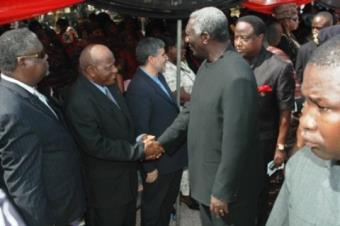The diplomatic corps were fully represented at Madam Hawas funeral<br/>Source: GNA