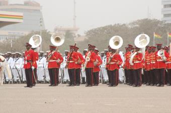 A Cross section of the Ghana Armed Forces Band