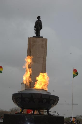 The Perpetual Flame Lighted In Front Of The Cenotaph Of The Unknown Soldier