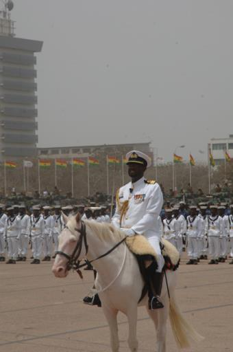 Parade Commander, Commodore Tim Appiah