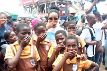 Joselyn Dumas Storms Kaneshie Market with Her Xcholera Campaign