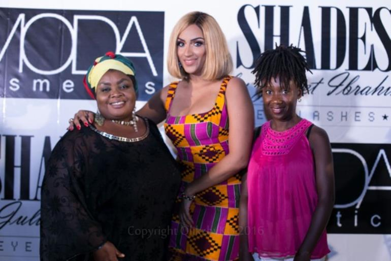 Juliet Ibrahim Launches her Shades Eyelashes & Moda Lipsticks Line in Ghana