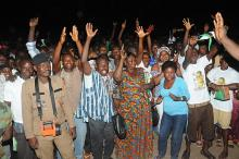 First Lady, Lordina Mahama's campaign in the Brong Ahafo region