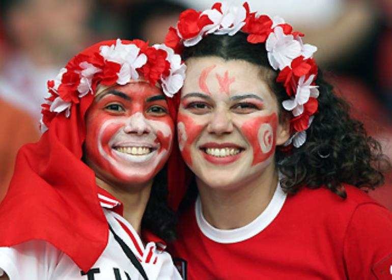 Tunisian fans show their support for the team considered the Arab world's best hope.