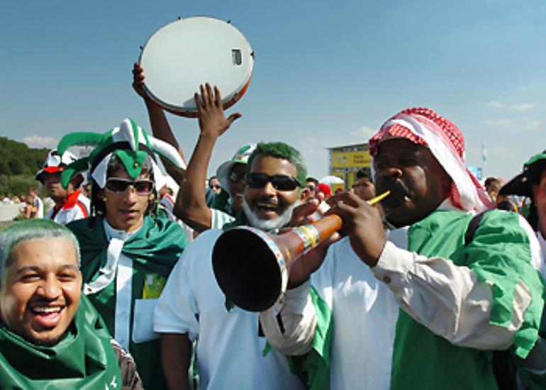 A lack of goals doesn't dampen the enthusiasm of Saudi supporters.