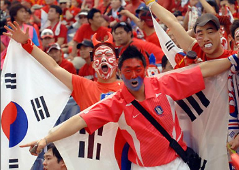 The Korean red devils hoping for a repeat to their 2002 success.