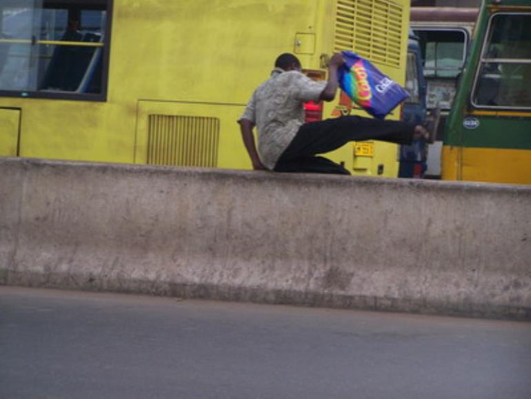 Pedestrians boycott new overhead bridge