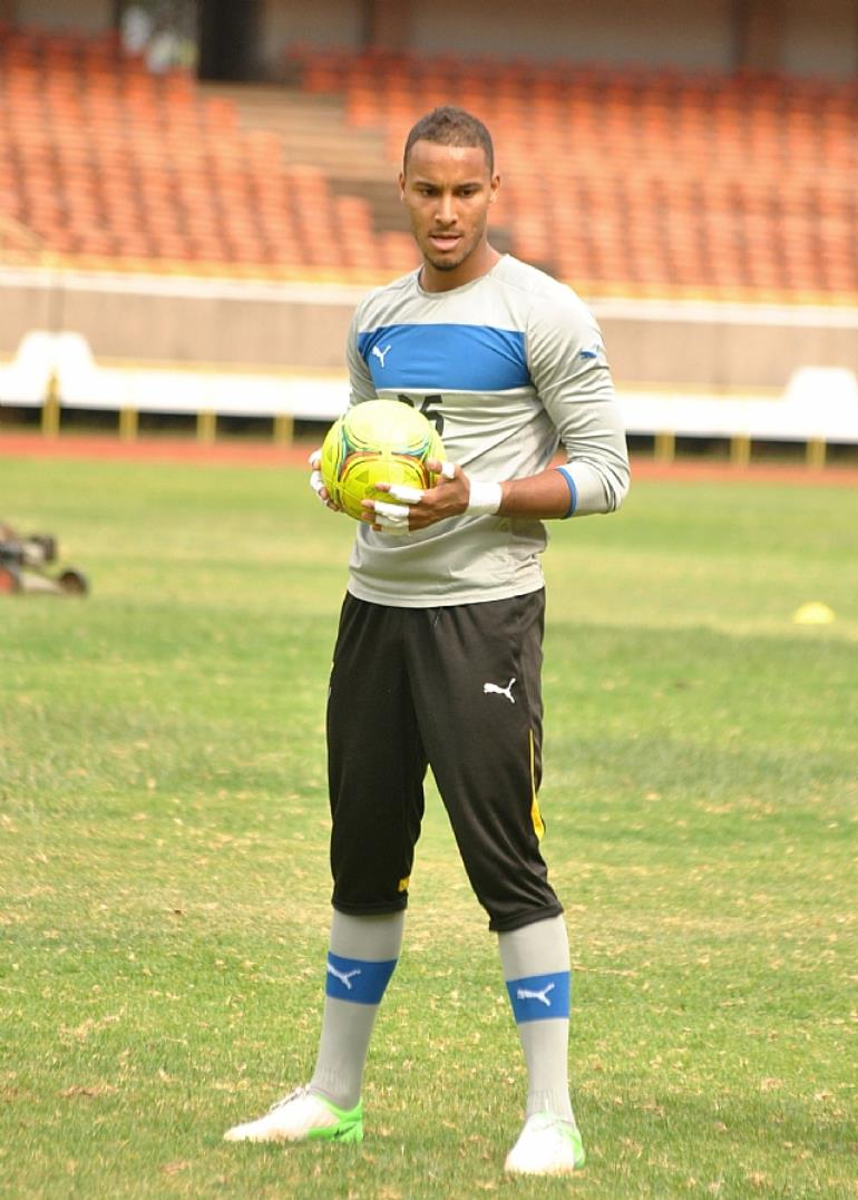 ADAM KWARASEY GHANIAN AND STROMGODSET GOLIE TRAINING AT KASARANI-DAVID NDOLO