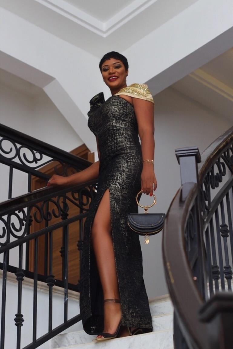 Eyebrow Raising Beauty Sandra Ankobiah Slays At Becca's Wedding In Exquisite Getup