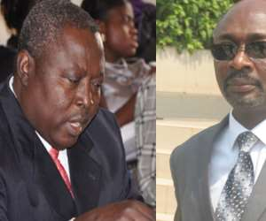 Martin Amidu (left), Alfred Woyome (right)