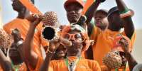 Ivory Coast's supporters cheer ahead of the 2015 African Cup of Nations football match between Ivory Coast and Guinea in Malabo on January 20, 2015.  By Issouf Sanogo (AFP)