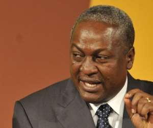 Ghana Vice President John Dramani Mahama, pictured in 2010, was sworn in as the west African nation's new president.  By ISSOUF SANOGO (AFP/File)