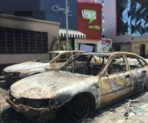State buildings have been torched, banks and shops destroyed and food shops looted in the Nigerian unrest.  By Sophie BOUILLON (AFP/File)