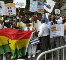 Concerned Ghanaians In USA Protest At United Nations
