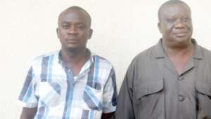Dr N.K. Ametewee (right) and his younger brother, Francis Ametewee, have been arrested by the police