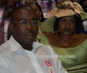 Former Information Minister Stephen Asamoah Boateng and wife, Zuleika