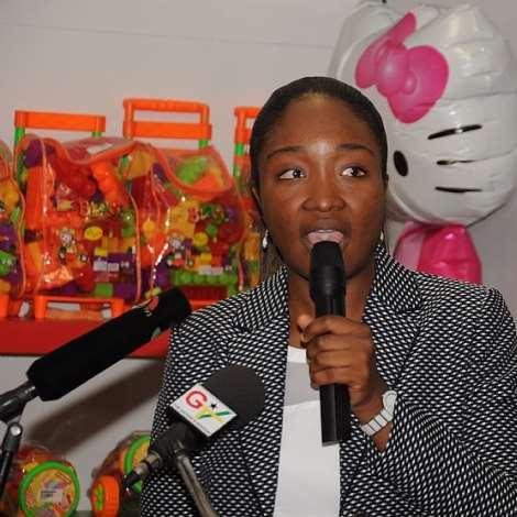 DSC 0043. MS.EWURWBENA KOBE BRAM-LARBI DELIVERING THE WELCOME ADDRESS.