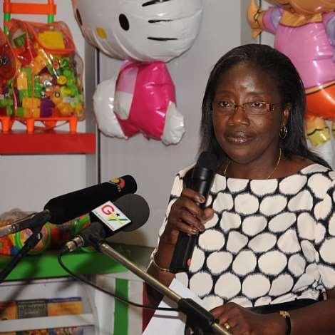 DSC 0057. MRS.MATILDA AMISSAH-ARTHUR ADDRESSES THE PATICIPANTS AND LAUNCH THE PROJECT (1)