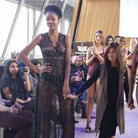 Karishma Jumani creates history for Lingerie at Eiffel Tower