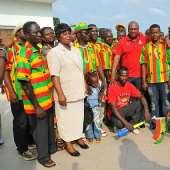Vice President John Mahama Visits The Black Stars Camp