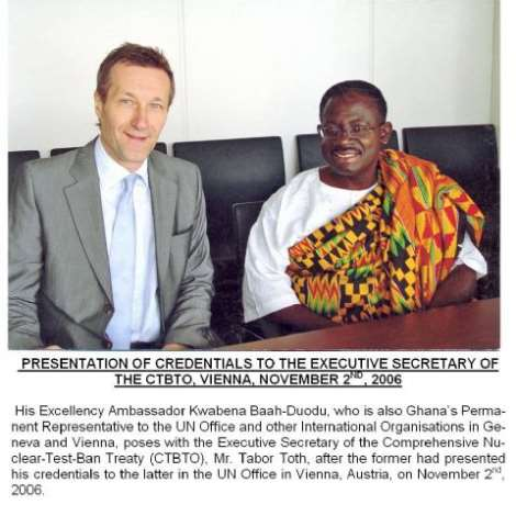 GHANA'S ENVOY PRESENTS CREDENTIALS IN AUSTRIA