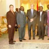 President John Evans Atta Mills on Thursday received two delegations at the castle Osu.