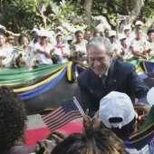 Bush signs aid deal with Tanzania