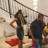 Yvonne Nelson Returns On Set With Kofi Adjorlolo