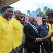 Visit to Black Stars Camp; 11th Extraordinary AU Summit