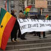 DEMONSTRATION OF ASSOCIATION OF CONCERNED GHANAIANS IN EUROPE