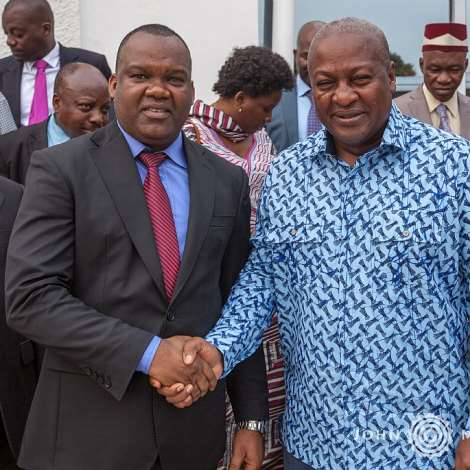 Mahama Hosts Dr Congo's Electoral Commissioner And Religious Leaders