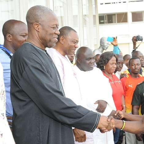 Veep Welcomes Gallant Black Stars Home After AFCON In Equatorial Guinea