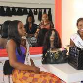 Miss Ghana winners visit Hair Senta