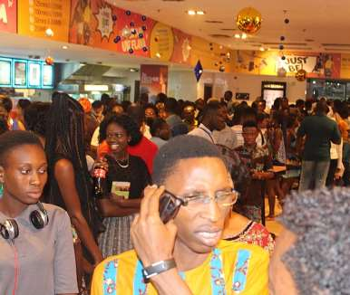 section of movie patrons outside while the movie was screening 1