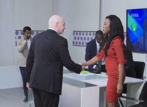 Ghanaian Sports Journalist Juliet Bawuah Interviews FIFA President