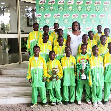 MILO Under 13 Champions League Winners Visit Nestle Ghana