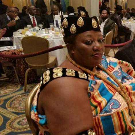 KING PEGGIE SEATED AT THE AWARDS CEREMONY