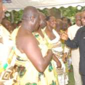 President Mills, Asantehene meet at Castle