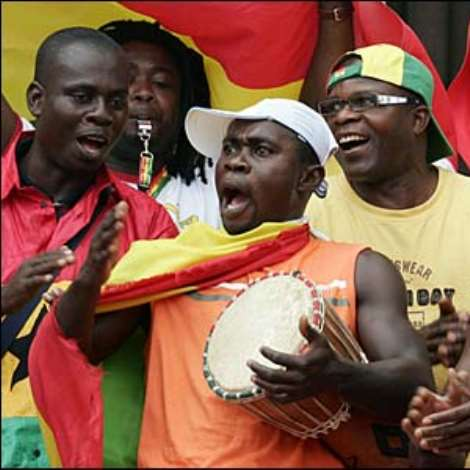 These Ghana fans are in good voice ahead of the game with the USA, both sides can progress to the last 16 with a win
