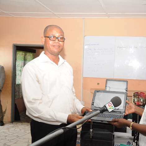 Second Lady Donates 10 Set Of Laptops, 5 Desktop Computers And Reading Materials To Osu Kaadjaanor JHS
