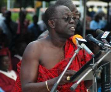 Mr Kwabena Bartels read the tribute of President Kufuor<br/>Source: GNA